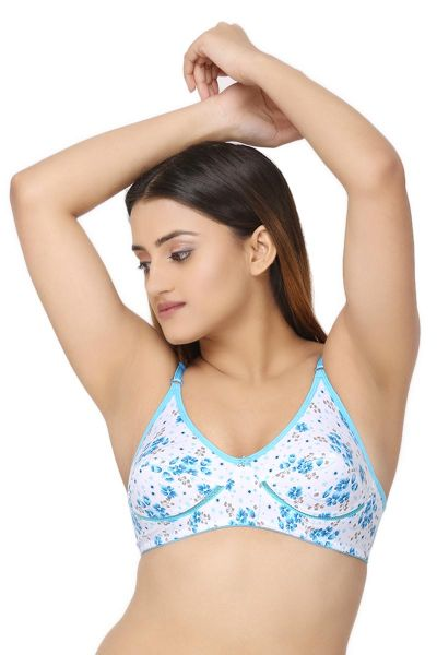 Ellixy Floral Printed Non Padded & Wireless Bra