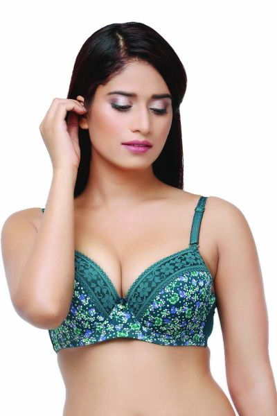 Ellixy Lightly Padded Full Cup Bra With Lace Detailing
