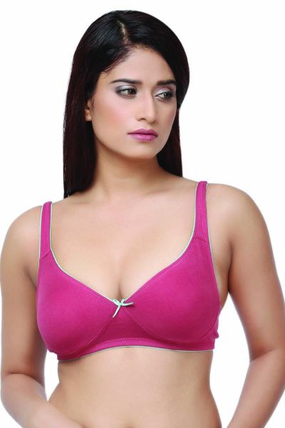 Ellixy Non-padded Double Layered T-Shirt Bra In Rich Cotton