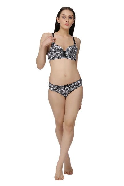 Ellixy Floral Balconette Fit Bra And Panty Set